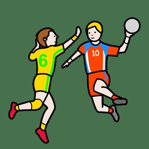 to play handball, handball