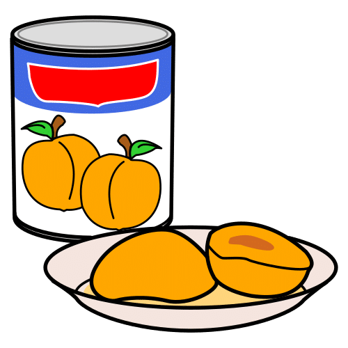 peach in jelly, peach