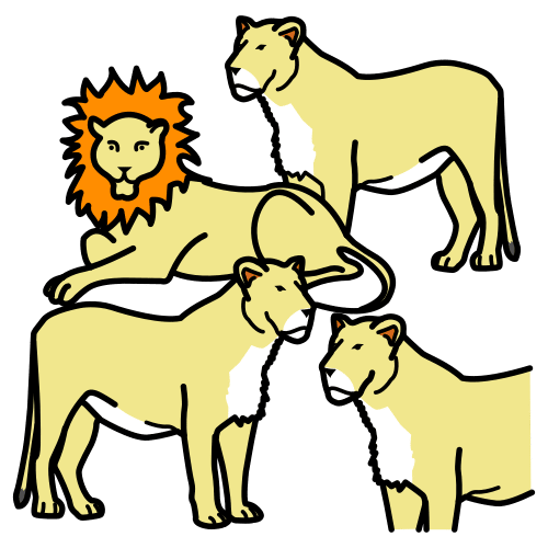pride (lions), herd (elephants)