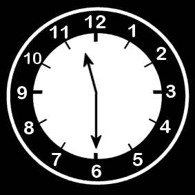 11:30 Clock Half Past 11